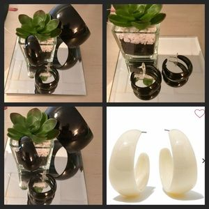 BOGO Rara Avis by Iris Apfel resin  hoop earrings!